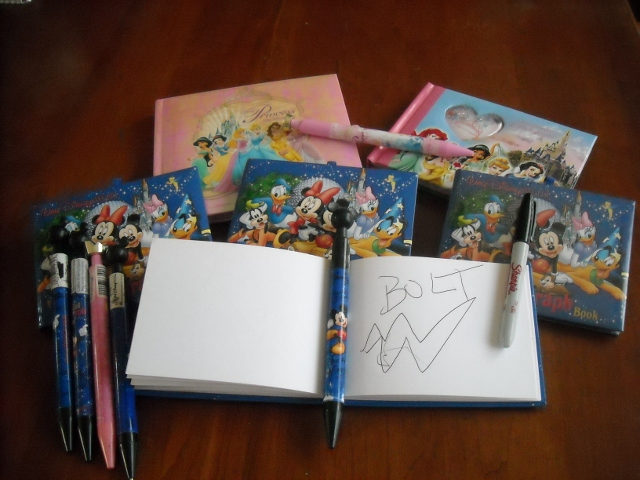 Disney Autograph books and Mickey pens